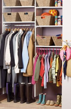 More clever organizing tricks for the closet at http://domino.com