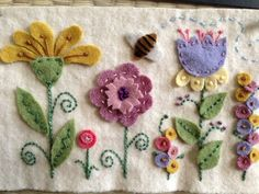 I made it with felted wool