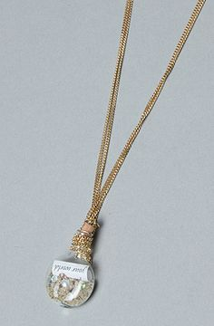 The Little Mermaid Collection Message in the Bottle Necklace by Disney Couture Jewelry