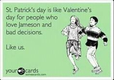 Man I wish I could join you all with a Jameson.  Next year maybe...