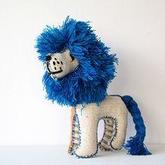 twoolies ぬいぐるみ LION Lサイズ A 青いたてがみのライオン - パリと、猫と、エトセトラ。「マッシュノート」