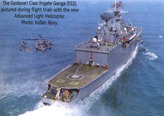 Indian Navy Godavari Class Frigate INS Ganga (F 22).