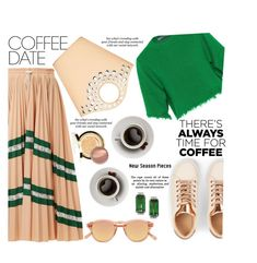 """coffee with friend"" by nataskaz ❤ liked on Polyvore featuring Valentino, Chimi, Erdem, Sulwhasoo, Elizabeth and James and CoffeeDate"