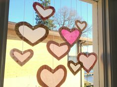 Meaningful Mama: Day #38 - Window Tissue Paper Hearts