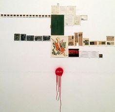 walid raad wall collage