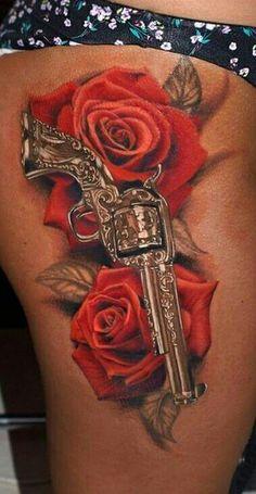 Gun & Roses tattoo