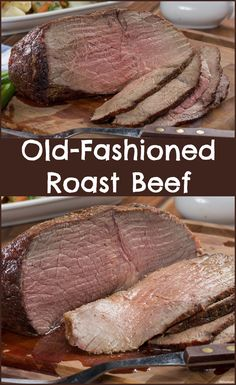 """Roast Beef For a lot of us, nothing says """"home"""" or """"old fashioned goodness"""" like roast beef.For a lot of us, nothing says """"home"""" or """"old fashioned goodness"""" like roast beef. Rump Roast Recipes, Oven Roast Beef, Healthy Beef Recipes, Roast Beef Sandwiches, Meat Recipes, Cooking Recipes, Rib Roast, How To Roast Beef, Cooking A Roast Beef"""