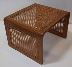 Jean Royère Caned Nesting Tables