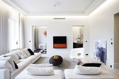 Blanc immaculé dans le salon design - Les plus beaux salons design à copier - CôtéMaison.fr