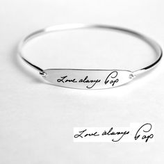 Hey, I found this really awesome Etsy listing at https://www.etsy.com/listing/468194631/memorial-signature-bracelet-handwriting