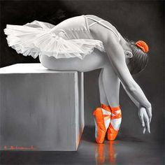 lohrien: Illustrations by Chung Shek Ballerina Art, Ballet Art, Ballet Dancers, Ballet Painting, Dance Paintings, Oil Paintings, Splash Photography, Ballet Photography, Color Splash
