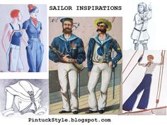 Sailor Inspired Fashions, a mood board @ Pintucks: Let's Talk About: Sources of Inspiration