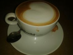 Cappuccino from Huygens Dok in Amsterdam.  Koffie kaffee coffee café caffe