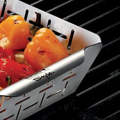Weber Small Stainless Steel BBQ Vegetable Basket | The Home Depot Canada