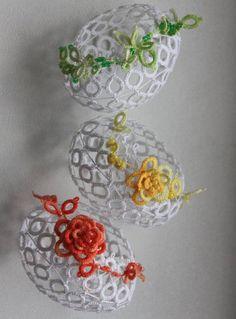 Krajková kraslice frivolitkované kraslice barvu vajíčka i ozdoby je možné domluvit cena za jeden kus