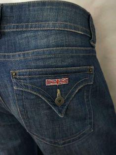Hudson W170DMH Signature Boot Cut Jeans Back Flap Pockets Dark Wash WIE 30 X 31 #Hudson Baby Boots, Hudson Jeans, Denim Skinny Jeans, Black Skinnies, Super Skinny, Women's Clothing, Pocket, Clothes For Women, Pants