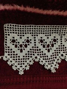 This Pin was discovered by Lal Stitch Crochet, Filet Crochet Charts, Thread Crochet, Love Crochet, Crochet Lace, Crochet Stitches, Crochet Curtains, Crochet Tablecloth, Baby Knitting Patterns
