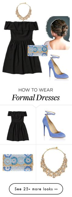 """""""Formal #littleblackdress"""" by lelisabeth on Polyvore featuring Aquazzura, Abercrombie & Fitch, Laurence Heller and Kate Spade"""