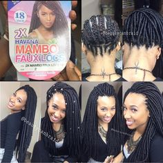 """""""Photo credit to @beautycanbraid !!! I love this!!! Crochet Faux Locs $90 You can now book appointments through the link in my bio!!!  #braidsbyaissa…"""" Crochet Locks, Crochet Faux Dreads, Crotchet Box Braids, Crochet Braids Hairstyles, Hairdos, Meche Crochet, Crochet Braid Pattern, Crochet Twist, Braid Patterns"""