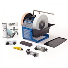 The Tormek series of sharpening grindstones have proven very popular with professionals and hobbyists alike. Whether you need to sharpen knives for the kitchen, or chisels for the workshop you can count on a Tormek to Professional Tools, Antique Tools, Knife Sharpening, Cool Tools, Bookends, Workshop, Woodworking, Packaging, Stone