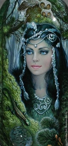 Миниатюрные работы Светланы Беловодовой на каменных украшениях это портреты прекрасных женщин, от красоты которых невозможно оторвать взгляд. | Colors.life