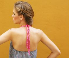 Halter Top 80s Polka Dot Print Silk by lauraplenzik on Etsy, $18.00 #graid #polkadots #halter #fashion