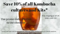 Save off Kombucha starter cultures and Kits with promo code Mother. Valid until Kombucha Drink, Kombucha Scoby, Kombucha Starter, Kombucha Culture, Whiskey Bottle, Brewing, Coding, Kit, Brow Bar