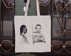 David Bowie 1976 Mug Shot New Tote Bag Glam on Etsy, $8.00