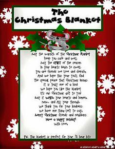 the Christmas Blanket printable