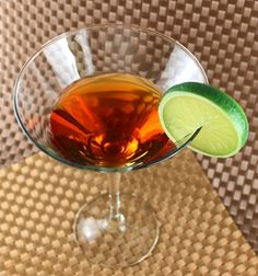 Liberty Cocktail recipe: Calvados, rum, lime, syrup