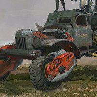 Car concept-2 (Буханка))) by Daniyar Kdyrov on ArtStation.