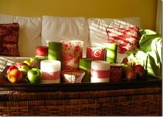 red and lime decor