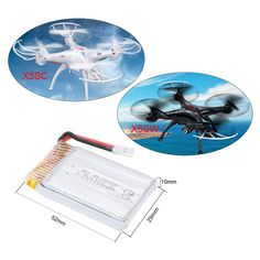 The lipo #batteries are upgraded version, which are suitable for #Syma X5SC X5SW RC #quadcopter. Good choice for you to enjoy longer and more flying joys http://www.tomtop.cc/y2mae2
