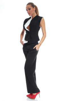 Elegant trousers wide belt