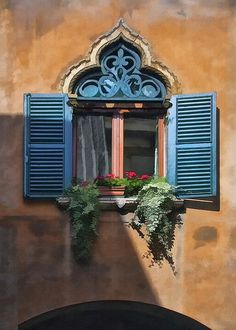 scroll work and shutters