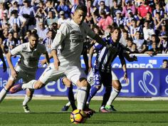 Ronaldo hat-trick extends Real La Liga lead   Madrid (AFP)  Cristiano Ronaldo returned to goalscoring form with his first hat-trick of the season and also missed a penalty as Real Madrid extended their lead at the top of La Liga with a 4-1 win at Alaves on Saturday.  Ronaldos wayward form in recent weeks had come under the spotlight  he was booed by Real fans after missing one chance recently  but he turned the game around after Deyverson had put Alaves into a shock early lead.  Ronaldo…