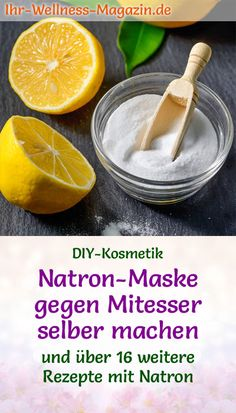 Natron-Maske gegen Mitesser selber machen - Rezept DIY recipe for basic personal care with baking soda: make your own baking soda mask against blackheads - these 3 ingredients remove blackheads and bl Shampooing Diy, Diy Skin Care, Skin Care Tips, Diy Beauty, Beauty Skin, Mascarilla Diy, Baking Soda Mask, Blackhead Remover, Natural Skin Care
