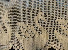 Bastidor de ventana de cortina cenefa a mano Cafe diseño de cordones de cortina panel cortina de cordones  Esta cortina de la ventana es de ganchillo con hilo de algodón blanco 100% a mano. Tiene un agradable cisnes u otras aves ornametnts diseñado en. Hecho a mano en Suecia.  Máquina lavable con baja caída seca.  Medidas: El ancho es 128cm/50,5 y altura o caída de 45cm/17.7.  Condición: perfecto. No limpio, agujeros, manchas o descoloramiento. Humo - libre hogar.  E31