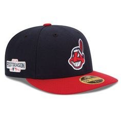 Cleveland Indians New Era 2016 Postseason Side Patch Low Profile 59FIFTY  Fitted Hat - Navy Red 048d068a6523