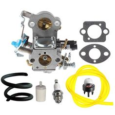 HIPA WTA-29 Carburetor with Fuel Line Filter Spark Plug for Husqvarna 455E 455 Rancher 460 461 Gas Chainsaw - Brought to you by Avarsha.com