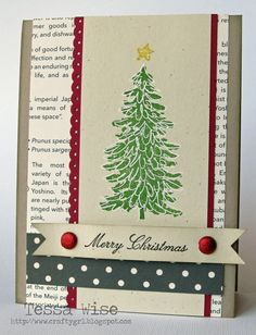 by Tessa Wise, Crafty Girl Designs: Evergreen Cards