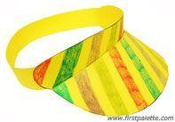 Step 8 Paper visor craft