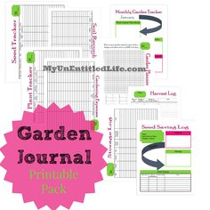 Garden Journal printable pack for free. Keep track of all things gardening!