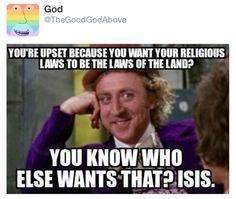 Activist Christians and Isis...if the former had their way you wouldn't be able to tell the difference in their actions against those who don't believe as they do.