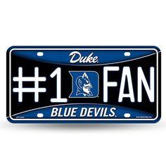 Duke #1 Fan License Plate – 460 Sports