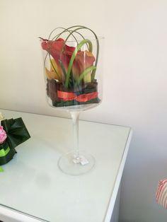 Bicchiere con sushi flower di calle Picasso