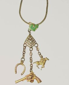 Western necklace with turquoise and vintage stampings #western #westernstyle #wildwest #vintagebrass #horseshoe #horse #revolver #2a #secondamendment #gunjewelry #girlsandguns #westernjewelry #texas #texasstyle #texasgirl #madeintexas #amandanancedesigns #necklace #smallbusiness #beaditaustin #austin #denton #dallas #dfw #fortworth #texasartist