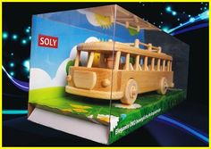 Cool toy Bus of the sixties, wooden retro toys - Wooden Gifts SOLY Handmade Wooden Toys, Wooden Gifts, Technology Gifts, Military Gifts, Natural Toys, Retro Toys, Cool Toys, Gifts For Dad, Kids Toys