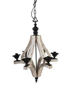 Save Now on this Wood Rustic Large Chandelier by A Home on #zulily today!