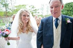 Wedding photography - Father of the bride walking her to the church. Graham Young Photography.
